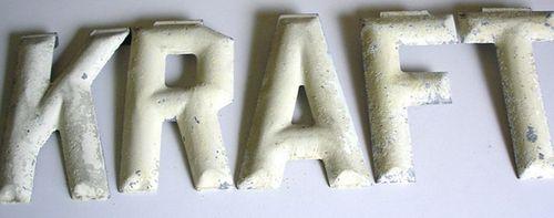 Kraft metal letters